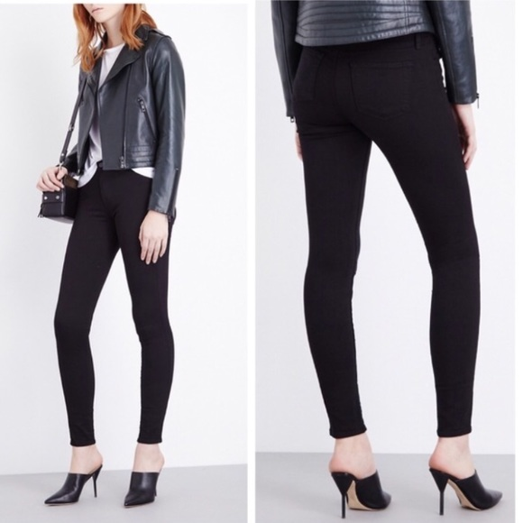 J Brand Denim - J Brand Super Skinny Mid Rise Seriously Black 28